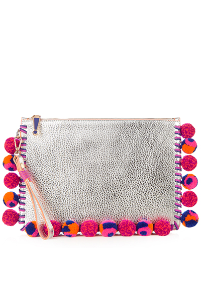 matches-flossy-pompom-embellished-leather-pouch